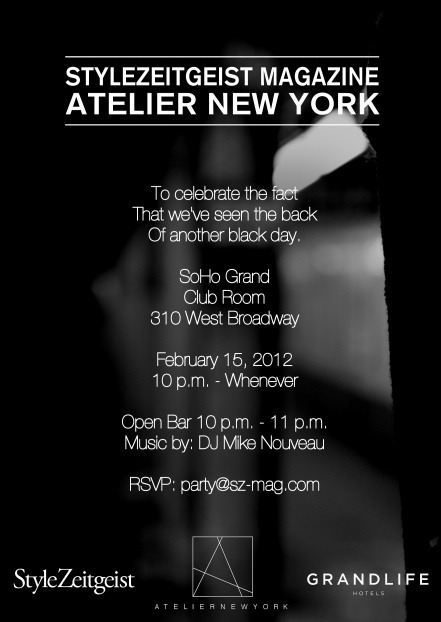 StyleZeitgeist Magazine x Atelier New York Party! - events - event_s