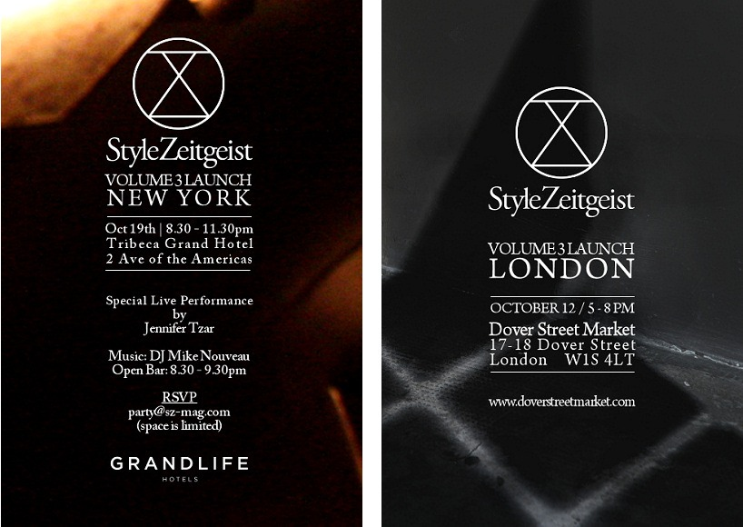 StyleZeitgeist VOL 3 LONDON LAUNCH | NEW YORK LAUNCH Events  event_s