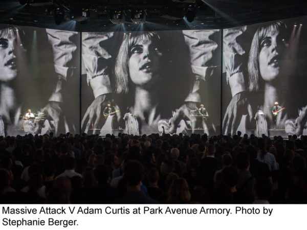Massive Attack V Adam Curtis - culture - World Music, video installation, singers, review_s, reception, Projections, Pop Music, Park Ave, musicians, Massive Attack, light projections, film, Electronic Music, Armory