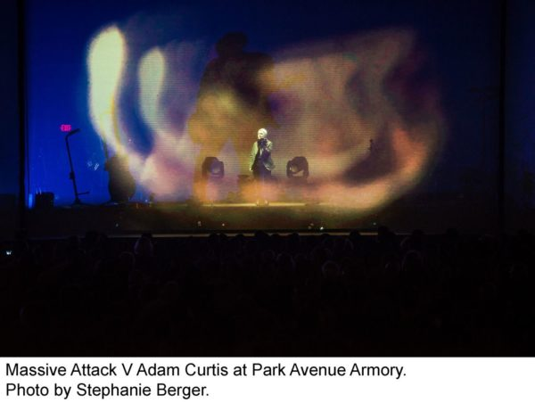Massive Attack V Adam Curtis - culture - World Music video installation singers review_s reception Projections Pop Music Park Ave musicians Massive Attack light projections film Electronic Music Armory