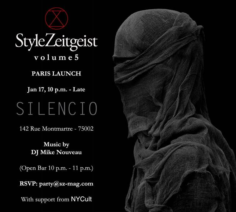 StyleZeitgeist VOLUME 5 LAUNCH, PARIS Events  magazin
