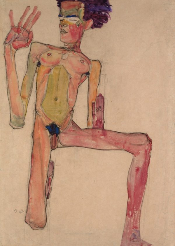 schiele 8-Self_Portrait_as_Kneeling_Nude