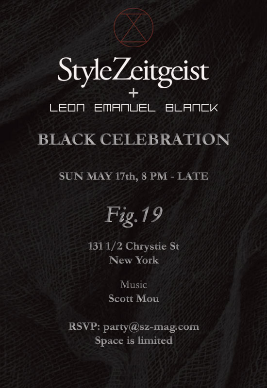 StyleZeitgeist Black Celebration with Leon Emanuel Blanck Events Fashion  event_s
