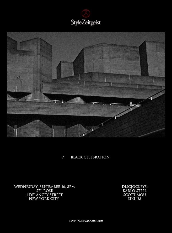 StyleZeitgeist Black Celebration: New York Events