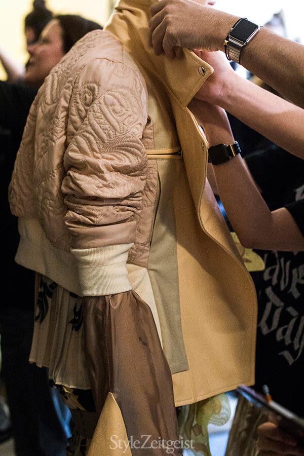 Sacai F/W16 Backstage - Paris - fashion - Year, Womenswear, Women's Fashion, StyleZeitgeist, Season, Sacai, Runway, PFW, Paris Fashion Week, Paris, Fashion, Fall Winter, Chitose Abe, Backstage, 2016