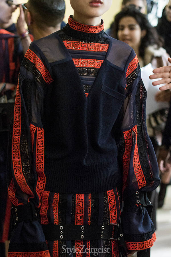 Sacai F/W16 Backstage - Paris - fashion - Year, Womenswear, Women's Fashion, StyleZeitgeist, Season, Sacai, Runway, PFW, Paris Fashion Week, Paris, Fashion, Fall Winter, Chitose Abe, Backstage, 2016