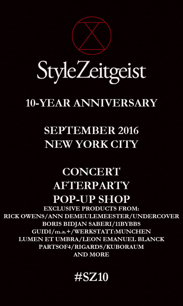 StyleZeitgeist STYLEZEITGEIST 10-YEAR ANNIVERSARY Events Fashion