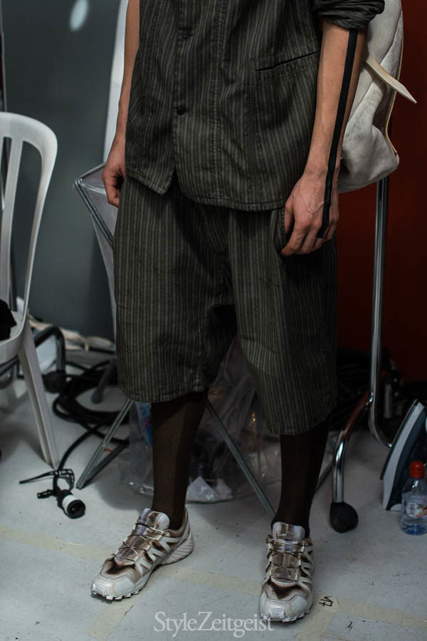 Boris Bidjan Saberi S/S17 - Backstage - fashion - StyleZeitgeist Spring Summer PFW Paris MENSWEAR Mens Fashion Fashion Boris Bidjan Saberi BBS Backstage 2017