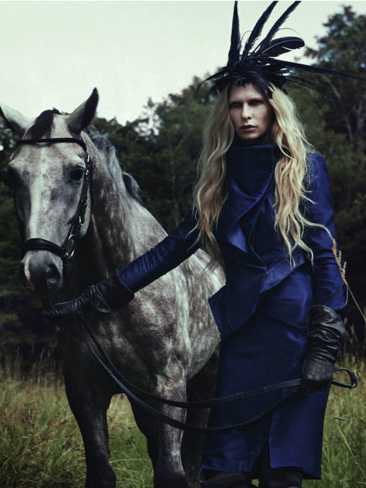 In this women's editorial named after a goddess in Norse mythology, photographer Jeff P. Elstone II shoots Christina Kruse on Whitebridge horse farm in Connecticut. Styled by James M. Rosenthal.