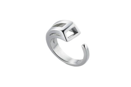 Sterling silver Sabre Ring with cutouts.Made to order.