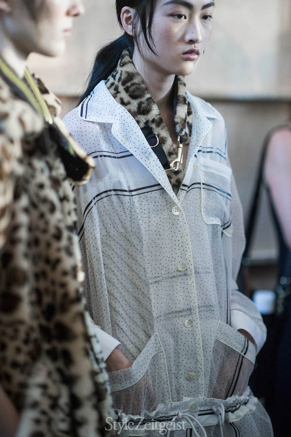 Sacai S/S17 Women's - Paris Backstage - fashion - Women's Fashion, StyleZeitgeist, Spring Summer, Sacai, Fashion, Backstage, 2017