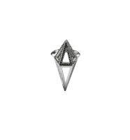 Moratorium Cocoon Half Pavé Ring - womens-jewelry, rings, jewelery -