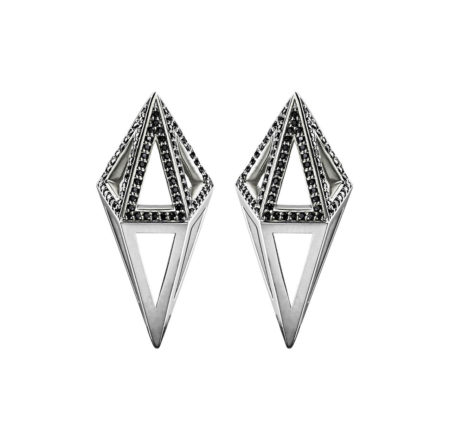 Moratorium Cocoon Half Pavé Earrings - womens-jewelry, jewelery, earrings -