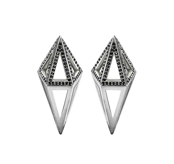 StyleZeitgeist Moratorium Cocoon Half Pavé Earrings