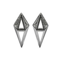 Moratorium Cocoon Half Pavé Earrings -  -