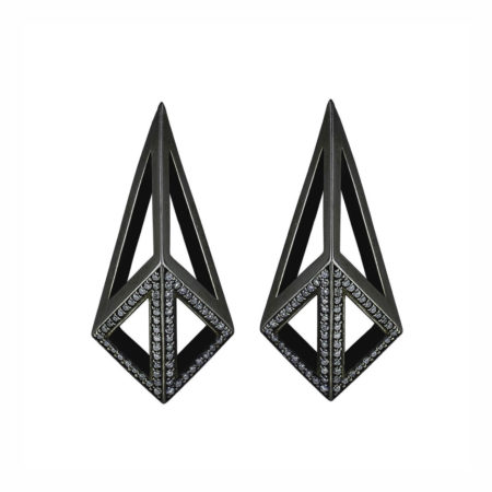 Kimers Half Pave Earrings. All Moratorium Fine Jewelry is customizable, please email info@moratorium.nyc for inquiries.