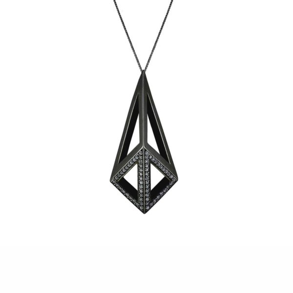 Moratorium Kimers Half Pave Necklace -  -