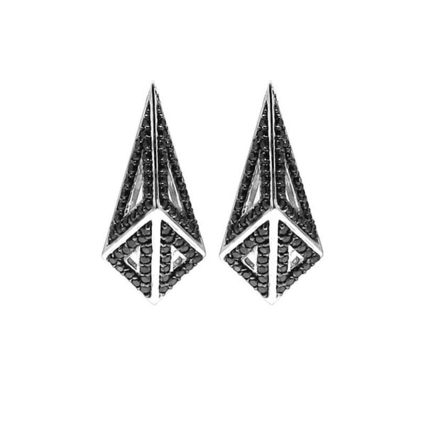 Mortorium Mini Kimers Full Pavé Earrings -  -