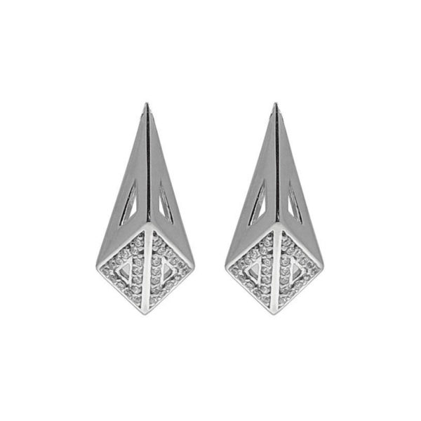 Moratorium Mini Kimers Half Pavé Earrings - womens-jewelry, jewelery, earrings -