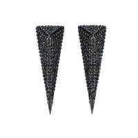 Mortaorium Long Pyramid Full Pavé Earrings -  -