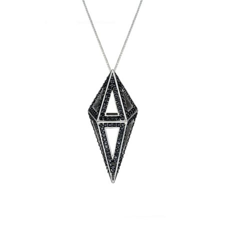Moratorium Mini Cocoon Full Pavé Pendant Necklace -  -