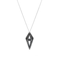 Moratorium Mini Cocoon Full Pavé Pendant Necklace - womens-jewelry, pendant, jewelery -