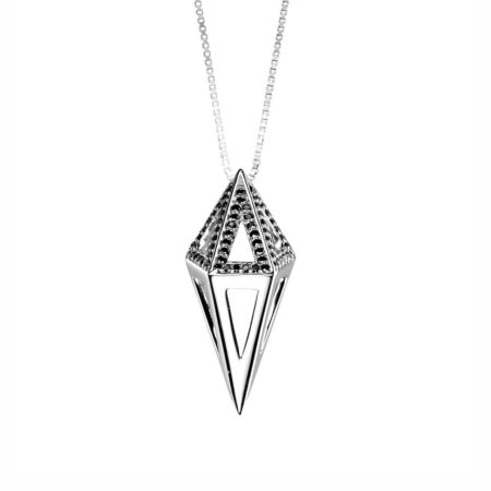 Moratorium Mini Cocoon Half Pavé Pendant Necklace -  -