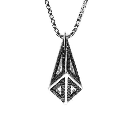 Moratorium Mini Kimers Full Pavé Pendant Necklace -  -