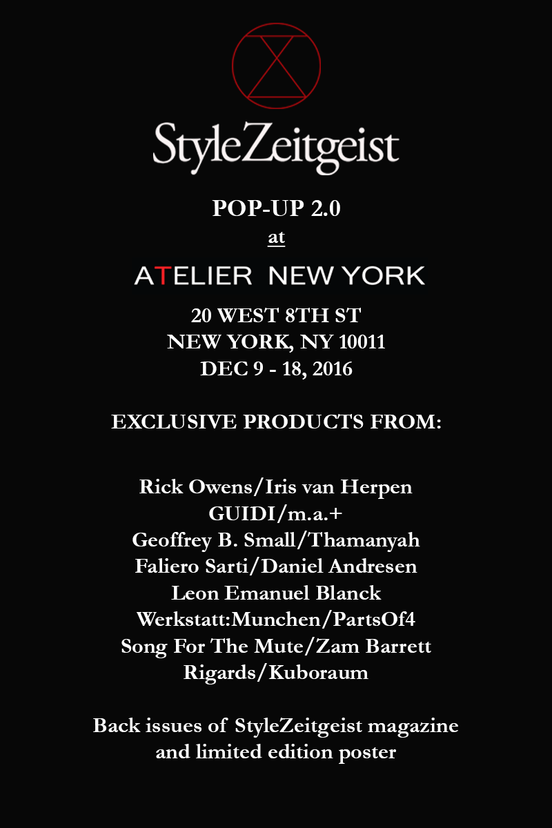 StyleZeitgeist StyleZeitgeist Pop-Up 2.0 Events  StyleZeitgeist pop-up shop atelier new york Atelier