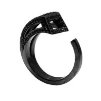 Moratorium Sabre Full Pavé Ring - womens-jewelry, rings, pendant, jewelery -