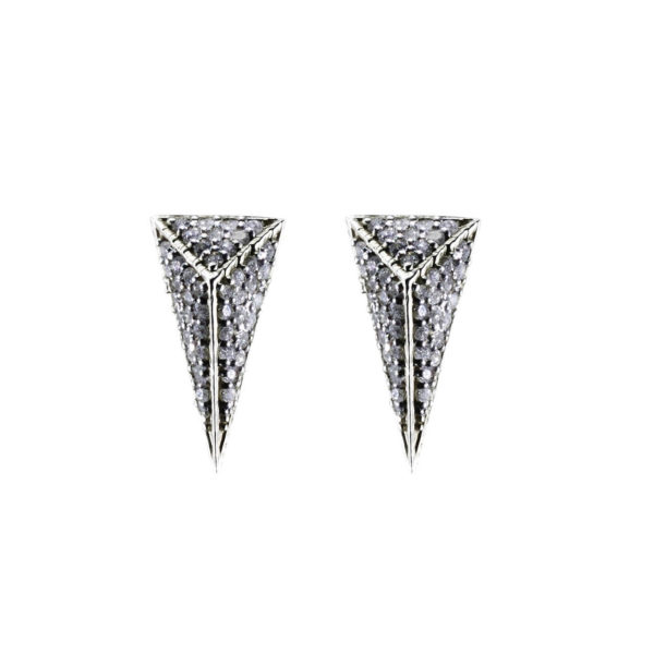 StyleZeitgeist Moratorium Small Pyramid Full Pavé Earrings
