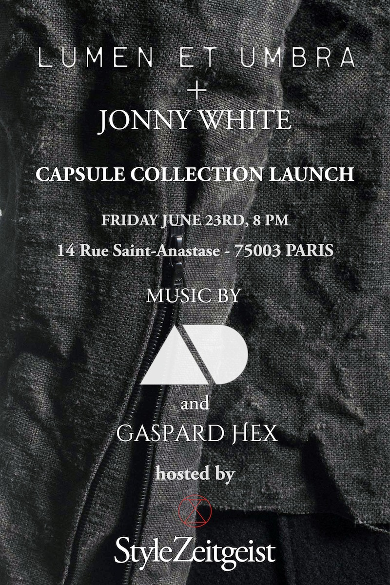 Lumen et Umbra x Jonny White - Capsule Collection Launch - fashion, events - SZ, StyleZeitgeist, Lumen Et Umbra, Jonny White, Fashion, Events, Capsule Collection, 2017