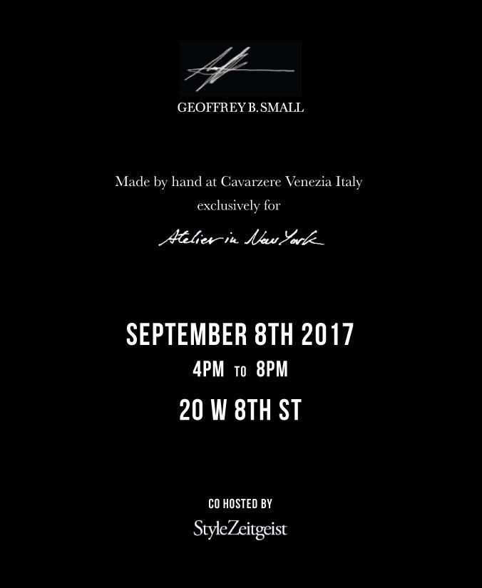 Geoffrey B. Small at Atelier New York - StyleZeitgeist, Geoffrey B. Small, Fashion, atelier new york, Artisanal Fashion