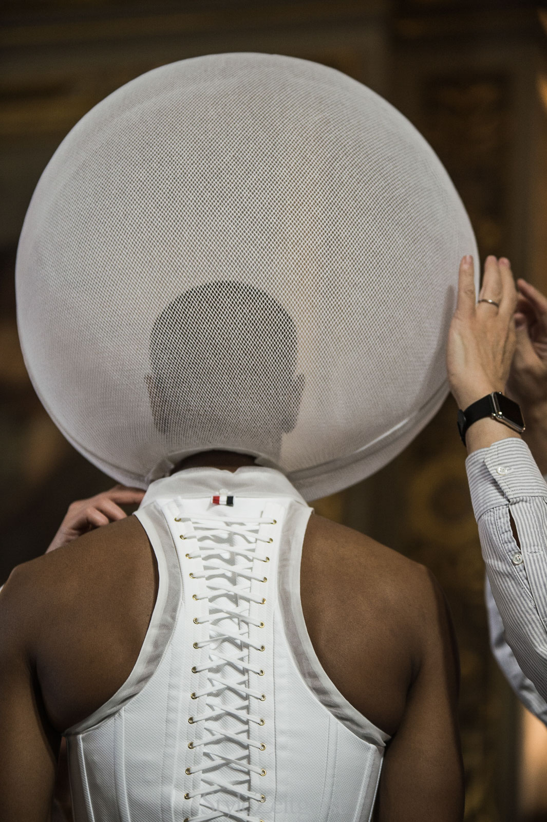 Thom Browne S/S18 Women's – Paris Backstage - fashion - Thom Browne, StyleZeitgeist, SS18, Spring Summer, PFW, Paris, Fashion, Backstage, 2017