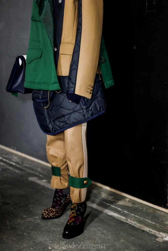Sacai F/W18 Women's – Paris Backstage - Womenswear, Women's Fashion, Rick Owens, PFW, Paris Fashion Week, Paris, Fw18, Fashion, Fall Winter, 2018
