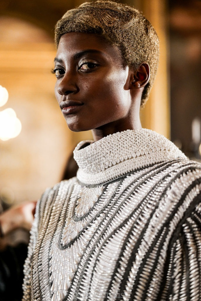 Thom Browne F/W18 Women's – Paris Backstage - Womenswear, Women's Fashion, Thom Browne, PFW, Paris Fashion Week, Paris, Julien Boudet, Fw18, Fashion, Fall Winter, Backstage, 2018