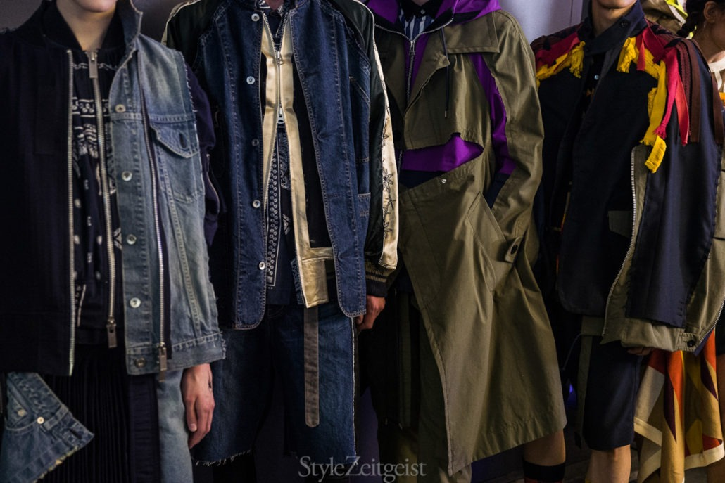 Sacai S/S19 Men's - Paris Backstage - SS19, Spring Summer, Sacai, PFW, Paris Fashion Week, Paris, MENSWEAR, Mens Fashion, Julien Boudet, Fashion, Backstage, 2018