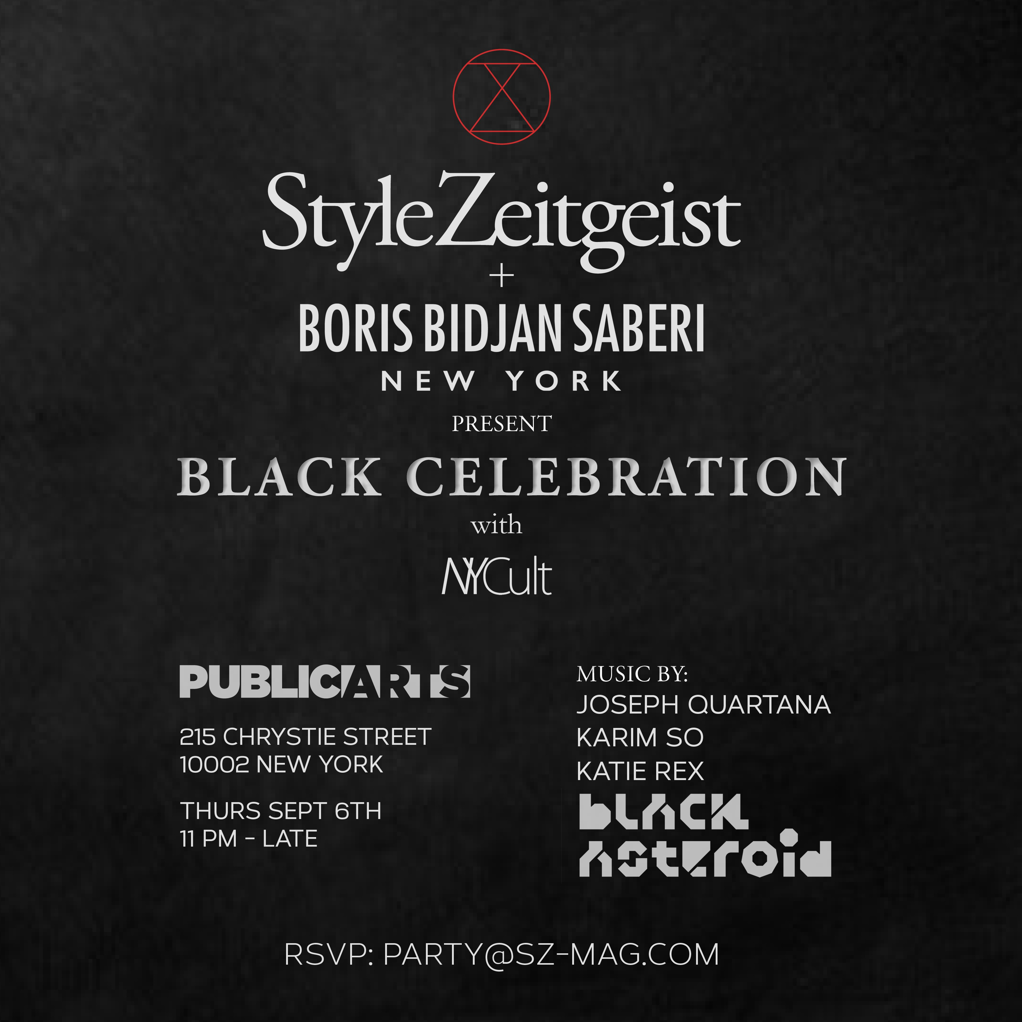 Black Celebration - events, culture - StyleZeitgeist, Public Arts, New York, Katie Rex, Joseph Quartana, Fashion, Boris Bidjan Saberi, Black Celebration, Black Asteroid, 2018