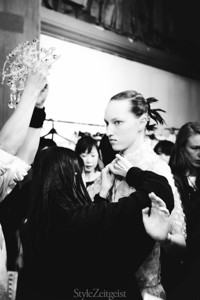Anrealage S/S19 Women's – Paris Backstage - Womenswear, Women's Fashion, SS19, Spring Summer, PFW, Paris Fashion Week, Paris, Fashion, Anrealage, Alice Berg, 2018