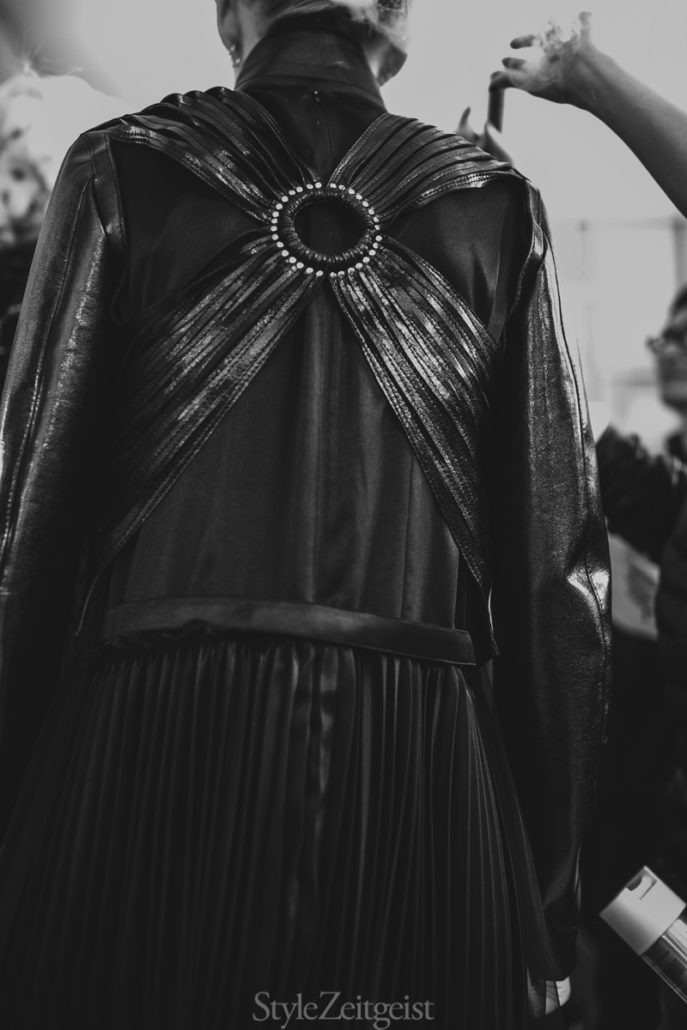 Noir Kei Ninomiya S/S19 Women's – Paris Backstage - fashion - Womenswear, Women's Fashion, SS19, Spring Summer, PFW, Paris Fashion Week, Paris, Noir Kei Ninomiya, Matthew Reeves, Fashion, Backstage