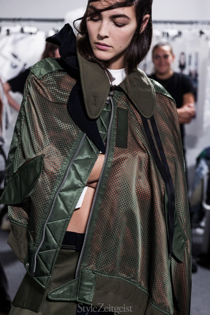 Sacai S/S19 Women's – Paris Backstage - Womenswear, Women's Fashion, SS19, Spring Summer, Sacai, PFW, Paris Fashion Week, Paris, lookbook, Julien Boudet, Fashion, Backstage, 2018