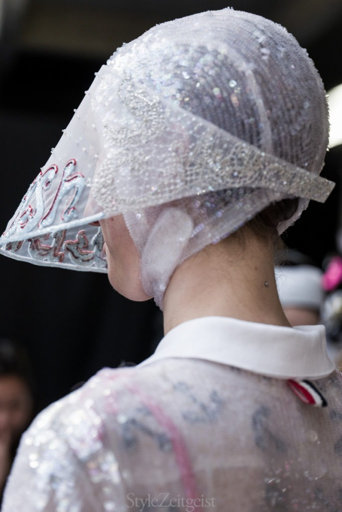 Thom Browne S/S19 Women's – Paris Backstage - fashion - Womenswear, Women's Fashion, Thom Browne, SS19, Spring Summer, PFW, Paris Fashion Week, Paris, Julien Boudet, Fashion, Backstage, 2018