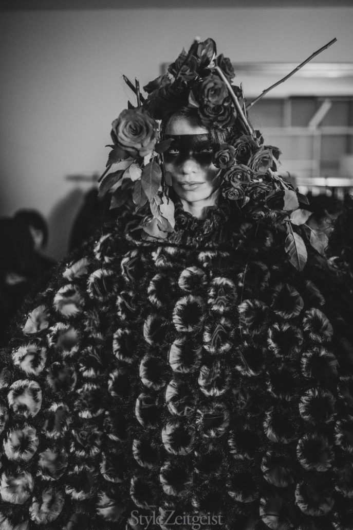 Noir Kei Ninomiya F/W19 Women's - Paris Backstage - Womenswear, Women's Fashion, PFW, Paris Fashion Week, Paris, Noir Kei Ninomiya, Matthew Reeves, FW19, Fashion, Fall Winter, Backstage, 2019