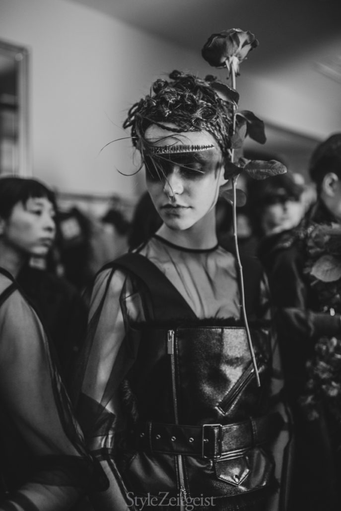 Noir Kei Ninomiya F/W19 Women's - Paris Backstage - fashion - Womenswear, Women's Fashion, PFW, Paris Fashion Week, Paris, Noir Kei Ninomiya, Matthew Reeves, FW19, Fashion, Fall Winter, Backstage, 2019