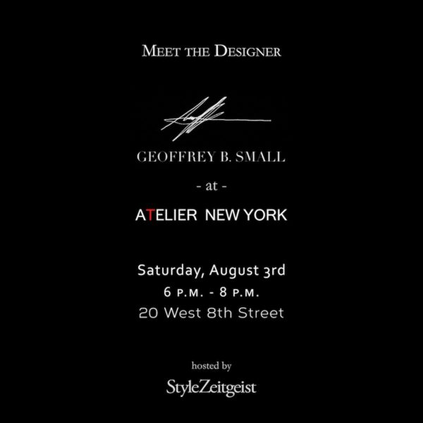 Geoffrey B. Small at Atelier New York - Geoffrey B. Small, Fashion, Events, atelier new york, 2019