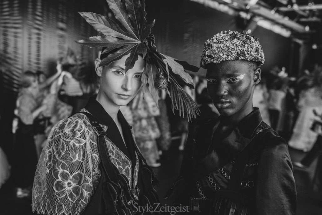 Noir Kei Ninomiya S/S20 Women's – Paris Backstage - Womenswear, Women's Fashion, SS20, Spring Summer, PFW, Paris Fashion Week, Paris, Noir Kei Ninomiya, Matthew Reeves, Fashion, Backstage, 2019