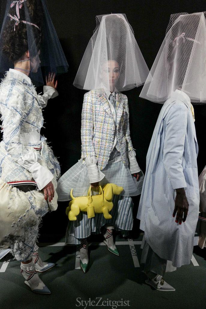 Thom Browne S/S20 Women's – Paris Backstage - Womenswear, Women's Fashion, Thom Browne, SS20, Spring Summer, PFW, Paris Fashion Week, Paris, Julien Boudet, Fashion, Backstage, 2019