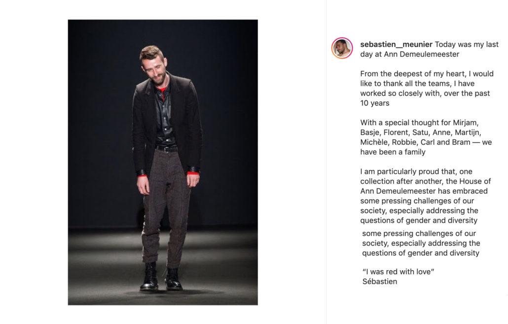 Sebastien Meunier Leaves Ann Demeulemeester - Sebastien Meunier, Fashion, Ann Demeulemeester, 2020